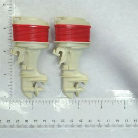 Tonka Clipper Outboard Boat Motor Pair, (2) Replacement Toy Part