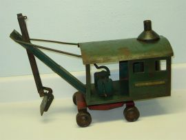 Vintage Sturditoy Steam Shovel, Pressed Steel Toy, Early Piece, Rare