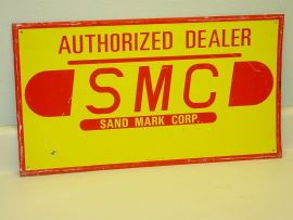 Vintage SMC Sand Mark Corp, Authorized Dealer Sign, Original, Scioto