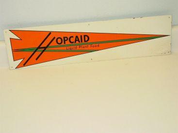 Vintage Hopcaid Liquid Plant Food Sign, Agriculture Advertising, Original Main Image