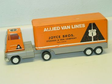 Vintage Tonka Mini Allied Van Lines Semi Truck, Joyce Bros. Main Image