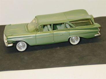 Vintage Plastic 1959 Chevrolet Nomad Wagon, Promo Car, White, Green Main Image