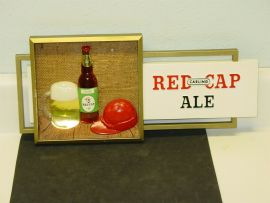 Vintage Advertising Sign Carlings Red Cap Ale, Original, Cleveland, 1960