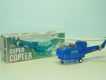 Vintage Horikawa Japan Super Copter Helicopter + Box, Works Great! Main Image