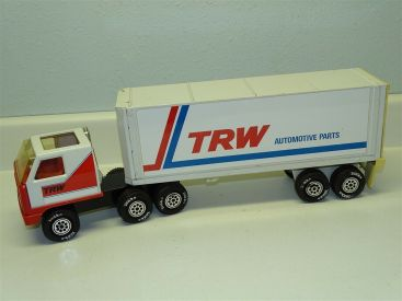Vintage Tonka Mini TRW Automotive Parts Semi Truck And Trailer Main Image