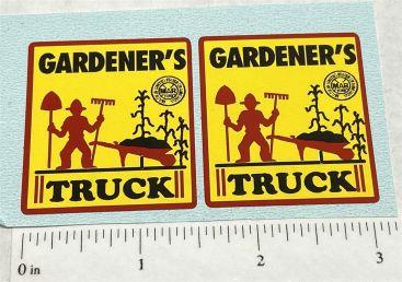 Marx Gardener's Truck Replacement Stickers Main Image