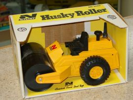 Vintage Nylint No. 2090 Husky Roller Pressed Steel, Construction, Toy In Box