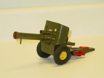 Vintage Japan Tin Lever Action Military Field Gun w/Bullets, Toy Vehicle, Works! Main Image
