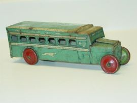 Vintage J. Chein Tin Litho Greyhound Lines Bus, Toy Vehicle, No. 270, U.S.A.