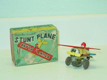 Tin Litho Line Mar Japan Mechanical Stunt Plane Wind Up Toy, Original Box, Works Main Image