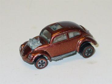 Vintage Brown 1967 Custom Volkswagen Redline Hotwheel Diecast Car Main Image