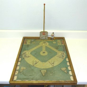 Vintage 1940s Toy Town Corp. Babe Ruth's Official Baseball Game with Figure Main Image