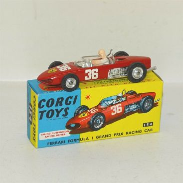 Corgi Toys Ferrari Formula I Grand Prix Race Car #154 Diecast Toy w/Rubber Tires Main Image