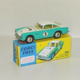 Corgi Toys Aston Martin DB4 Competition Model #309, Diecast Toy in Repop Box