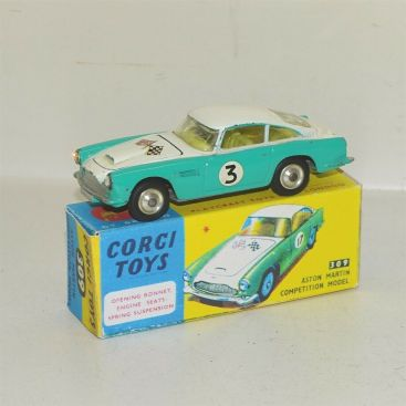 Corgi Toys Aston Martin DB4 Competition Model #309, Diecast Toy in Repop Box Main Image