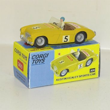 Corgi Toys Austin Healey Sports Car #300, Diecast Toy Vehicle in Repop Box Main Image