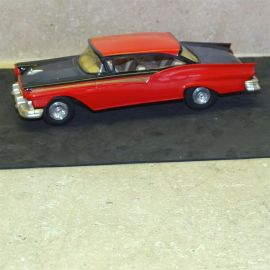 Vintage Plastic 1957 Ford Fairlane 500, Dealer Promo Car, 2 Door HT