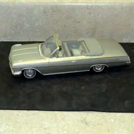 Vintage Plastic 1962 Chevrolet Impala Convertible Dealer Promo Car, Open Hood