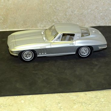 Vintage Plastic 1965 Chevrolet Corvette Stingray Dealer Promo Car, Main Image