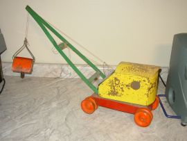 Vintage Sturdybird Pressed Steel Crane/Shovel Construction Toy