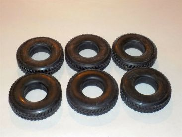 Smith Miller L-Mack Herringbone Replacement Set of 6 Tire Toy Part Main Image