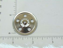 Single Zinc Plated Tonka Round Hole Hubcap Toy Part