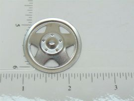 Single Plated Tonka Triangle Hole Hubcap Toy Part