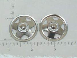 Set of 2 Plated Tonka Triangle Hole Hubcap Toy Part