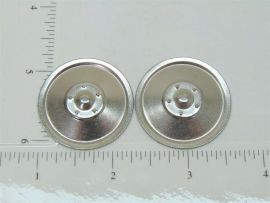 Set of 2 Zinc Plated Tonka Solid Hubcap Toy Parts