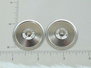 Set of 2 Zinc Plated Tonka Solid Hubcap Toy Parts Main Image