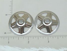 Set of 2 Tonka Later Hub Cap Replacement Toy Parts