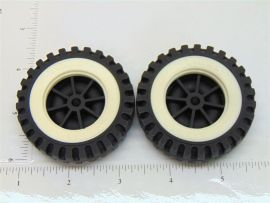 Set of 2 Tonka Plastic Wheels/Inserts Replacement Toy Parts