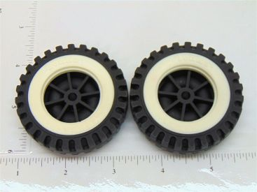 Set of 2 Tonka Plastic Wheels/Inserts Replacement Toy Parts Main Image